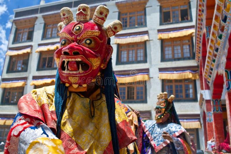 Dançarino do homem poderoso, Ladakh imagens de stock