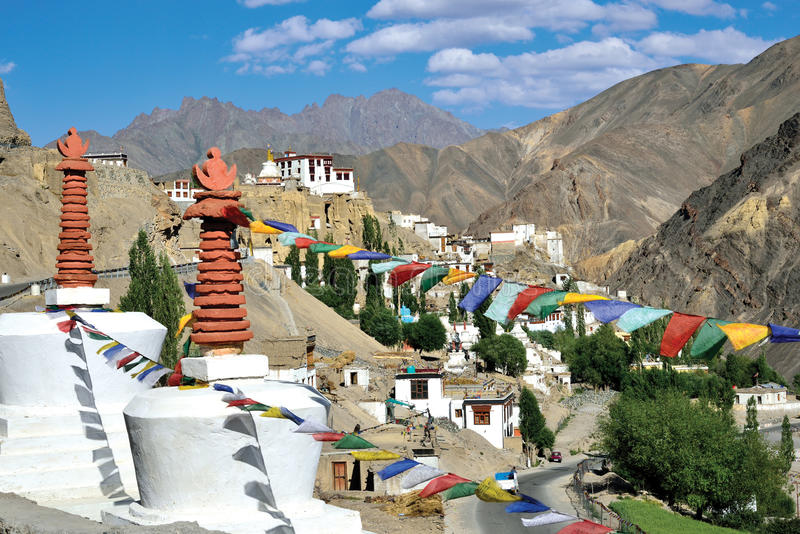 Lamayuru Monastery, Leh-Ladakh, India royalty free stock photography