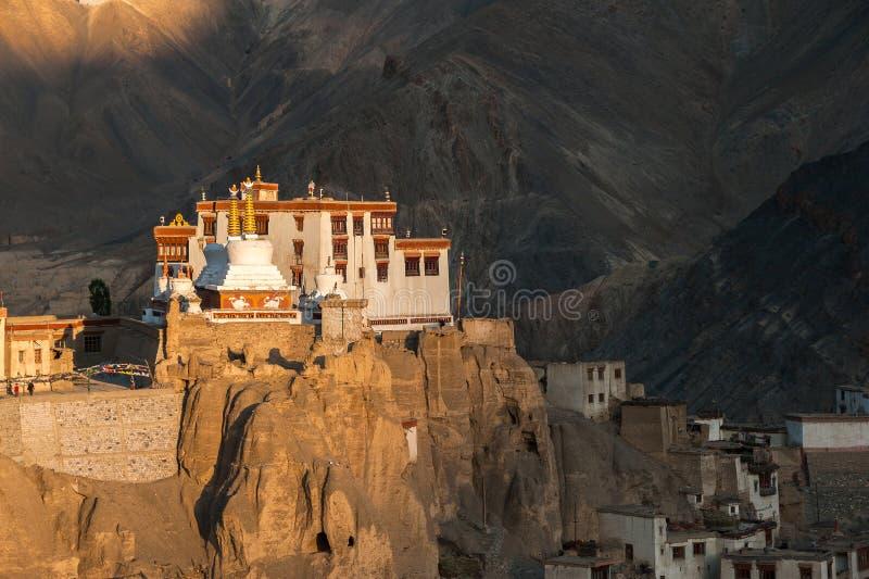 Lamayuru of Yuru Gompa, Kargil-District, Westelijke Ladakh, India royalty-vrije stock fotografie
