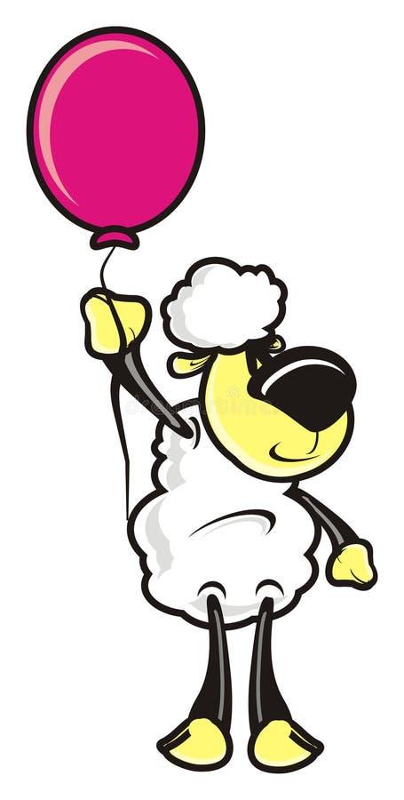 Lamb with balloon royalty free illustration