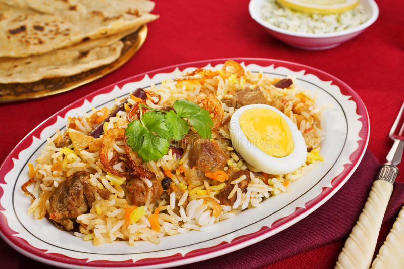 Lamb Biryani royalty free stock image