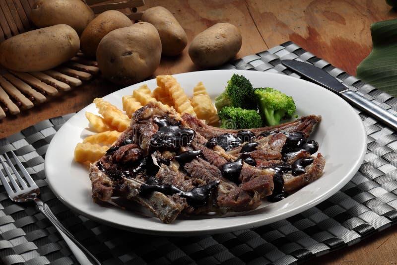 Lamb chop royalty free stock photo