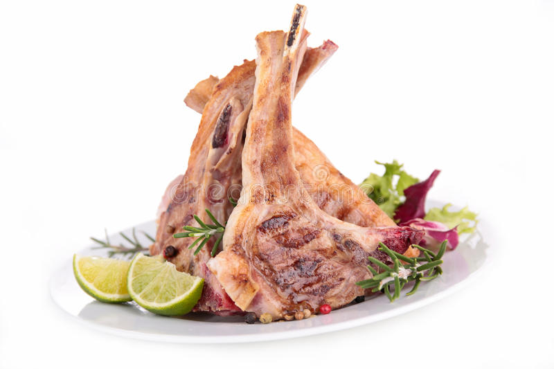 Lamb chop royalty free stock images