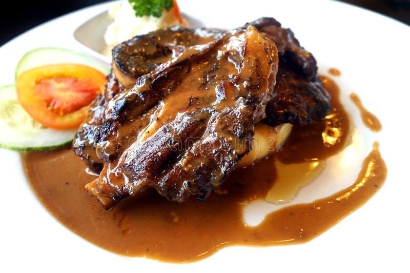 Lamb chop steak royalty free stock photo