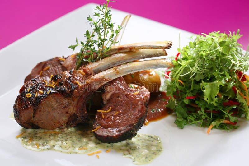 Lamb chops tandoori style stock image