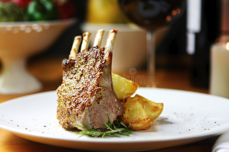 Lamb Dinner stock images
