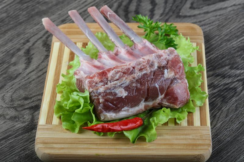 Lamb Frenched Rack stock image