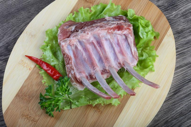 Lamb Frenched Rack stock photography