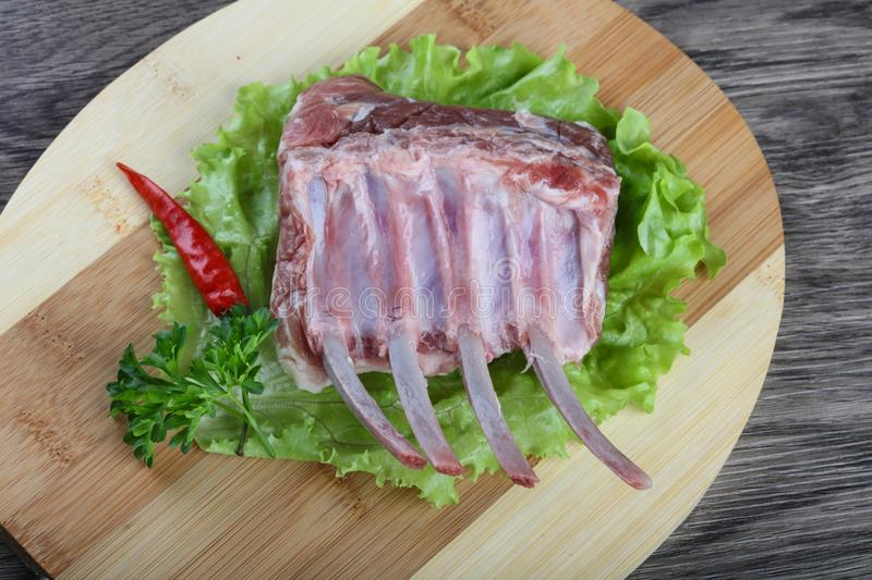 Lamb Frenched Rack royalty free stock images