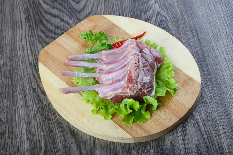 Lamb Frenched Rack royalty free stock image