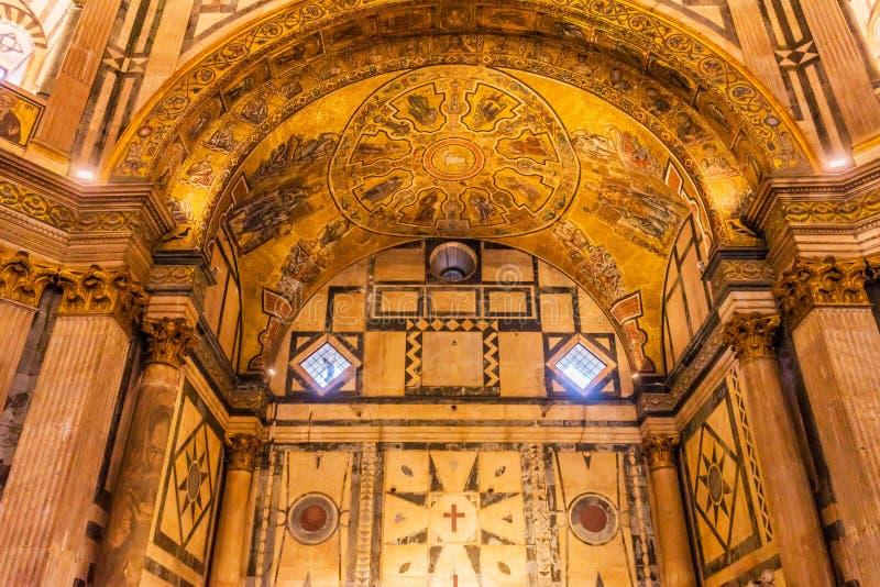 Lamb of God Bible Mosaic Dome Bapistry Saint John Florence Italy. Lamb of God Biblical Stories Mosaic Dome Bapistry Saint John Duomo Cathedral Church Florence royalty free stock photos