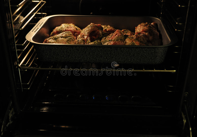 Download Lamb grill in oven stock image. Image of modern, meat - 8756467