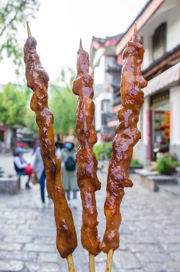 Lamb kebab stock photo