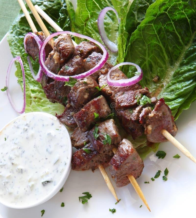 Download Lamb Kebabs stock photo. Image of grilled, souvlaki, lamb - 17079748