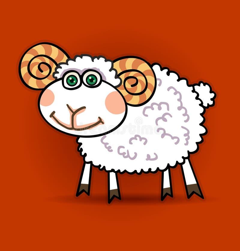 lamb little royaltyfri illustrationer