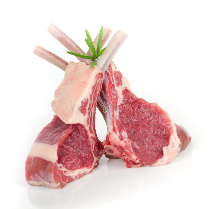 Lamb ribs stock images
