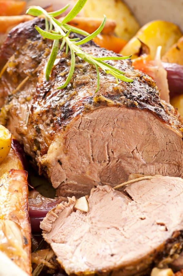 Download Lamb roast stock image. Image of lemon, green, backing - 24056933