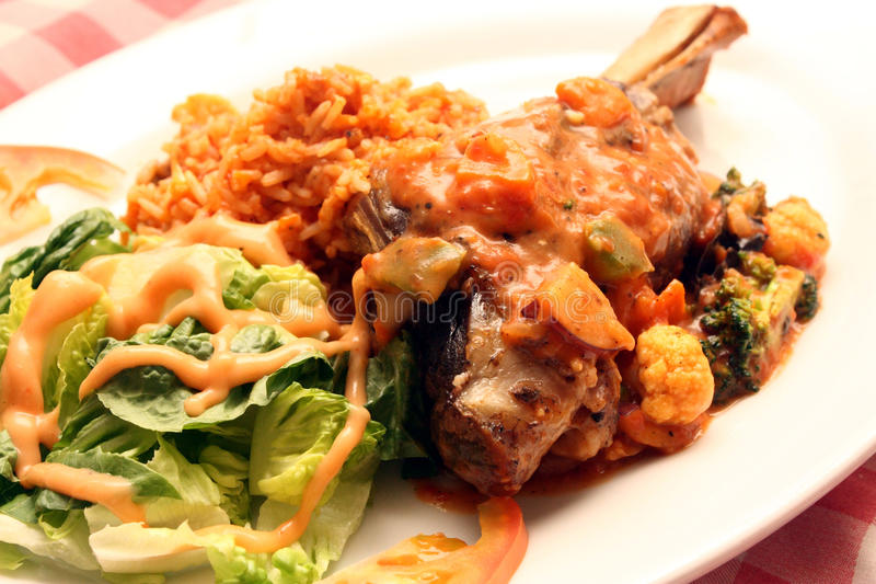 Lamb Shank Meal royalty free stock images