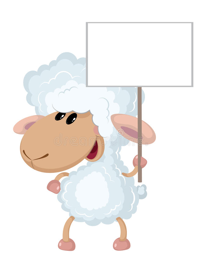 Download Lamb with a sign stock vector. Image of sheep, cute, animal - 37272939