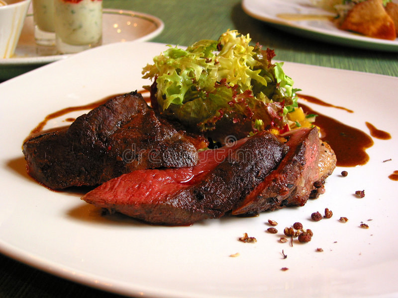 Download Lamb steak stock photo. Image of french, black, course - 627548