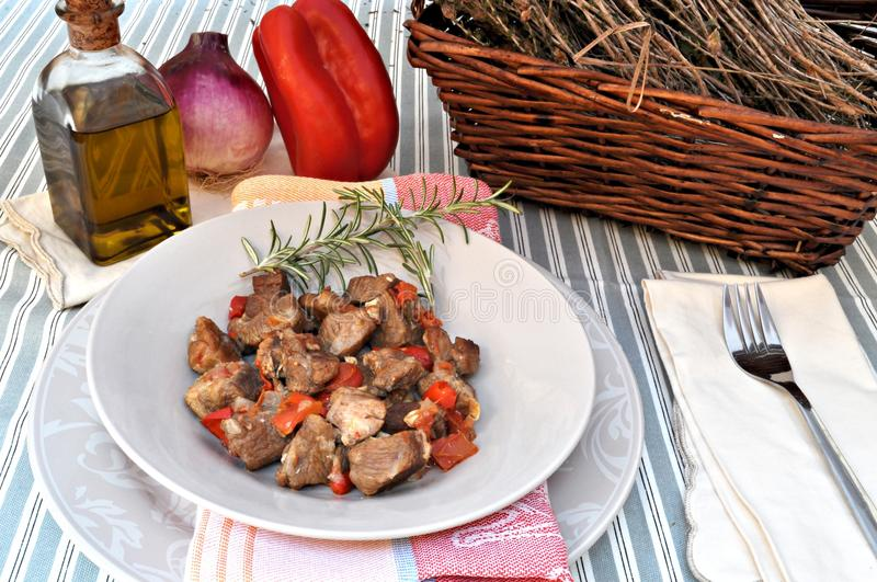 Lamb stew stock photography