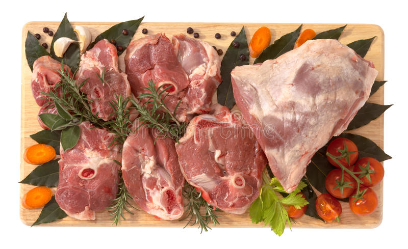 Lamb, Thigh Sliced Stock Photography