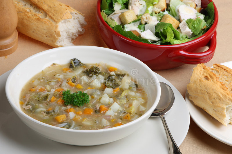 Lamb & Vegetable Soup royalty free stock photography
