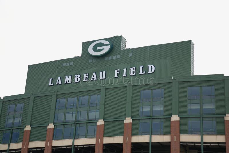 Lambeau Feld - Green Bay-Verpacker stockbild