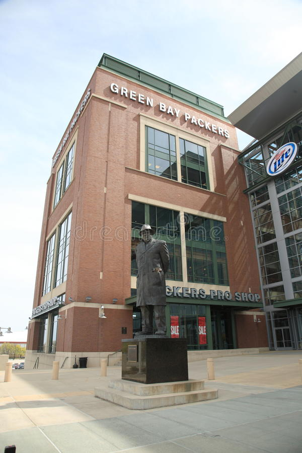 Download Lambeau Field - Green Bay Packers Vince Lombardi Editorial Stock Image - Image: 18879944
