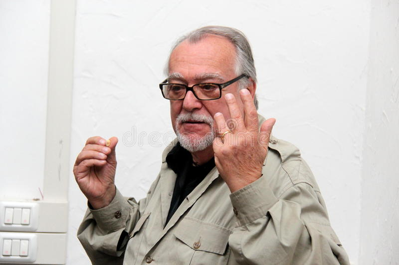 Lamberto Bava film director stock photo