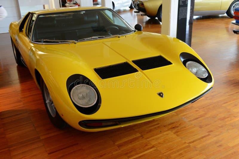 Lamborghini三浦 免版税库存照片
