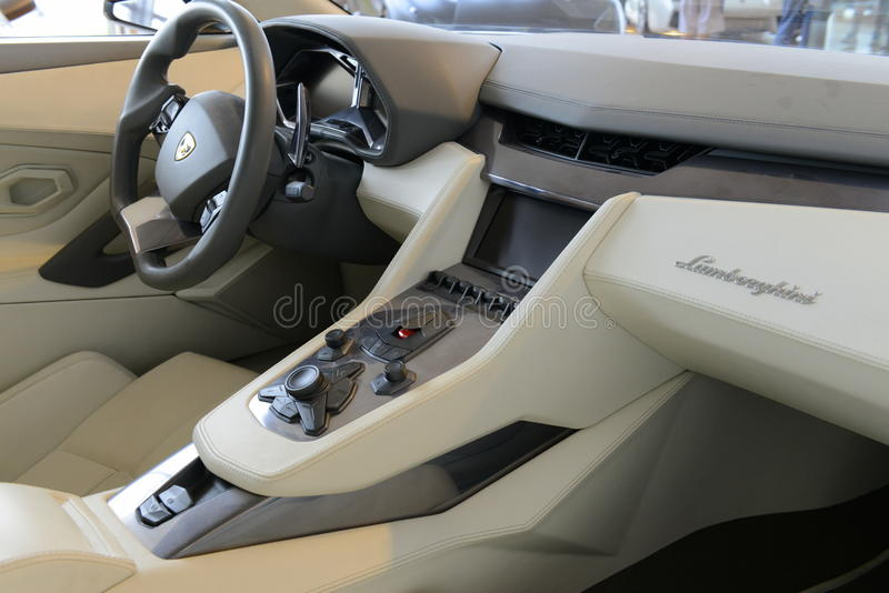 Lamborghini内部 免版税库存图片