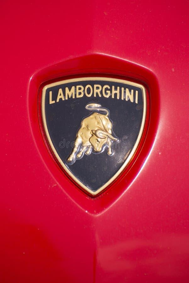 Lamborghini商标徽章 免版税库存照片
