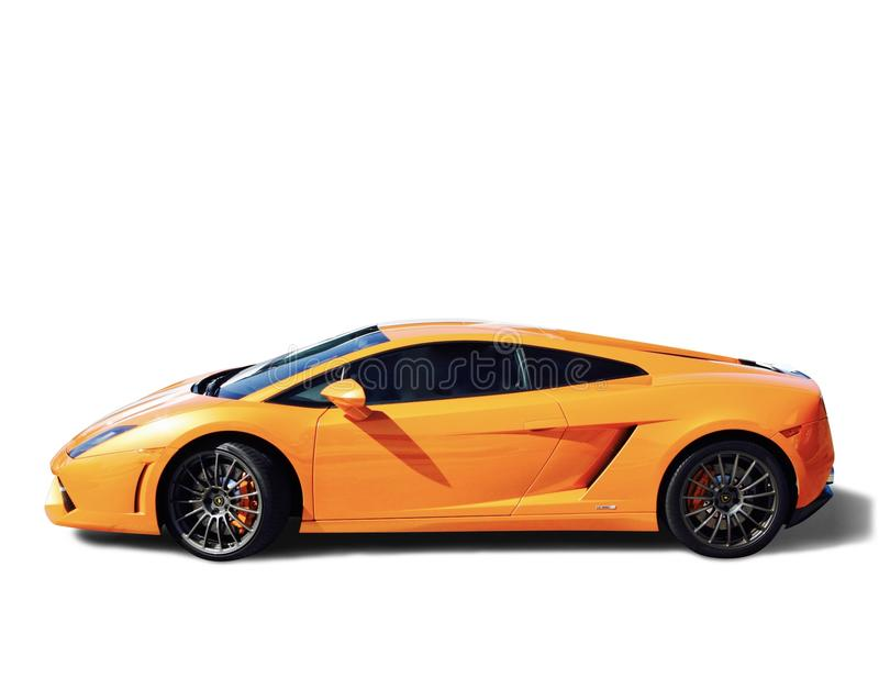 Lamborghini在桔子的跑车 免版税图库摄影