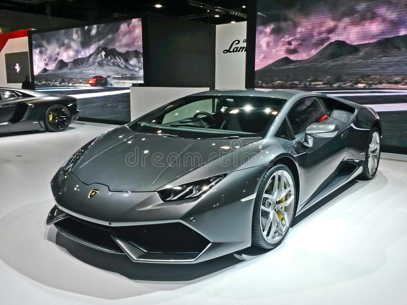 Lamborghini展示 免版税库存图片