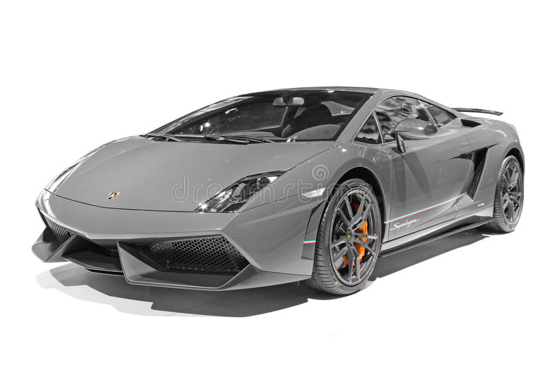 Lamborghini汽车 免版税库存照片
