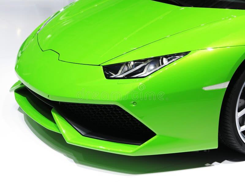 Lamborghini跑车面孔光 库存照片