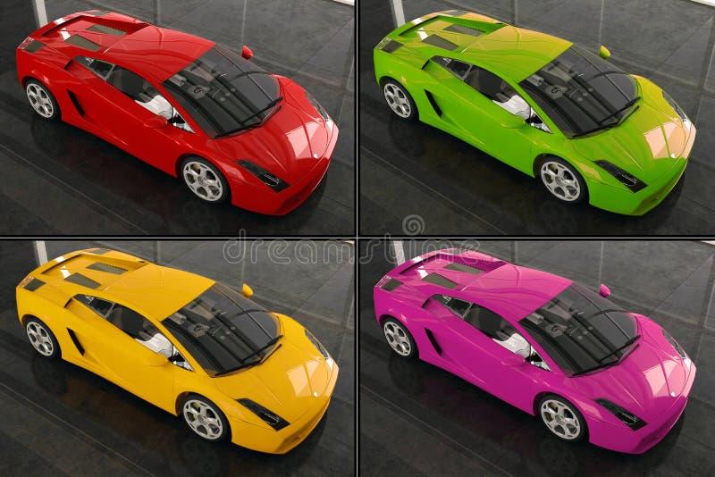 Lamborghini illustration stock