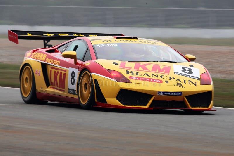 Lamborghini in action royalty free stock photos