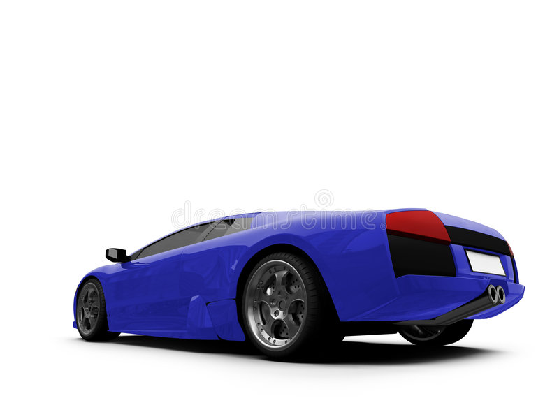Lamborghini aisló el azul libre illustration
