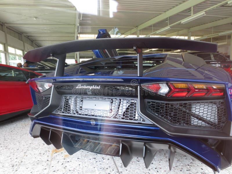 Lamborghini avendator 豪华车商 库存照片