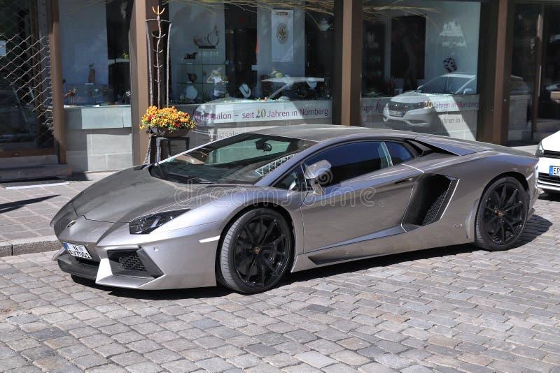Lamborghini Aventador 图库摄影