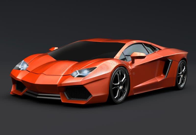 Lamborghini aventador 3d Wiedergabe stock abbildung
