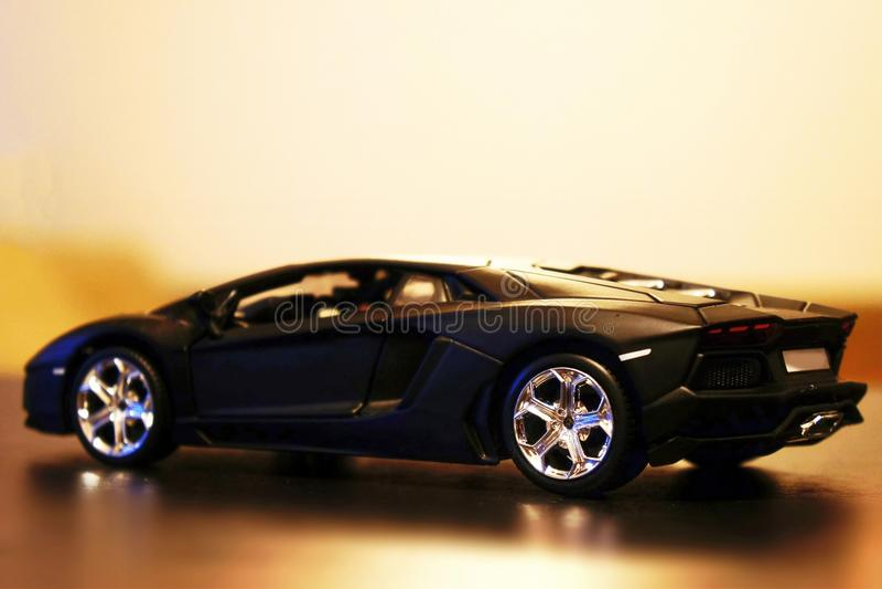 Lamborghini Aventador LP700-4 model car toy royalty free stock photo