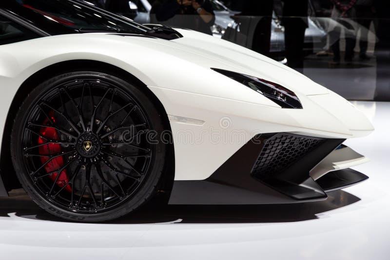 Lamborghini Aventador LP 750-4 SuperVeloce跑车 免版税库存照片