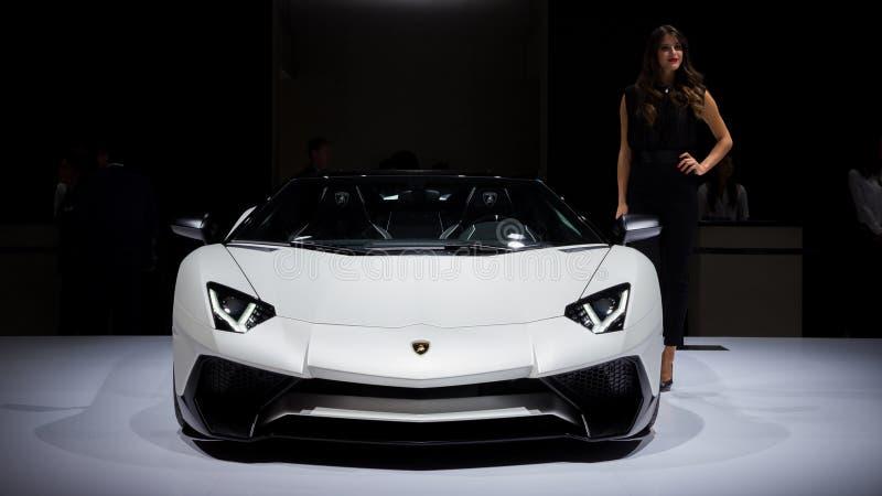 Lamborghini Aventador LP 750-4 SuperVeloce跑车 库存图片