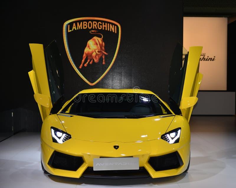 LAMBORGHINI Aventador LP700-4 terenówki supercar zdjęcia stock