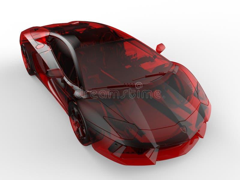 Lamborghini Aventador luxueux en verre rouge illustration de vecteur
