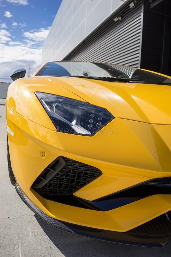Lamborghini Aventador S Closeup Portrait stock photography