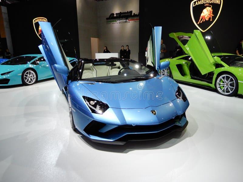 Lamborghini Aventador S roadster royaltyfri fotografi